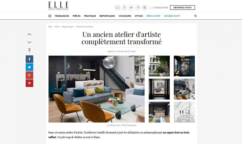 Publication ElleDeco Web